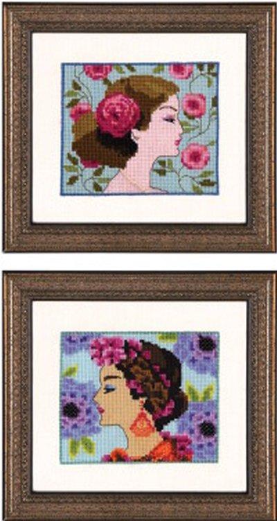 Nora Corbett Designs  #NC237 Bella Portrait ~ Bella Rose and Bella Hydrangea