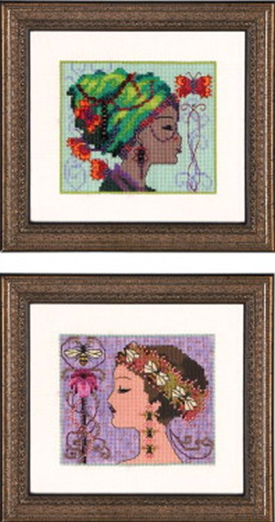 Nora Corbett Designs  #NC238 Bella Portrait ~ Bella Butterfly and Bella Bee