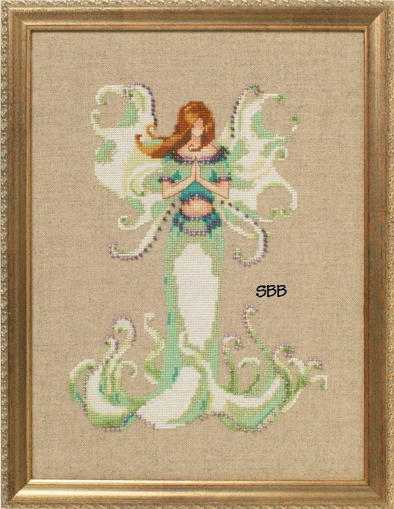 Nora Corbett Designs  #NC246 Poison Pixies ~ Angel White Trumpet