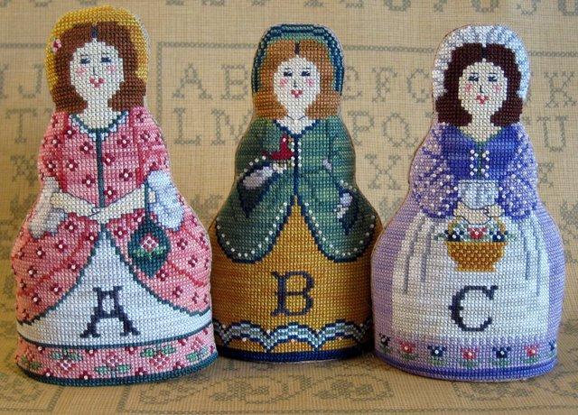 The Needle's Notion Alphabet Dolls