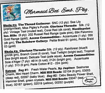 Nashville 2018  Mermaid Box Embellishent Pack