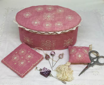 Nashville 2018  Ca'Rosada - Pink Sewing Box & Lace From Venice