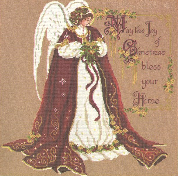 Passione Ricamo Closeout Christmas Blessing Angel
