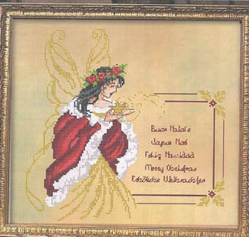 Passione Ricamo Closeout Fairy Christmas Greetings