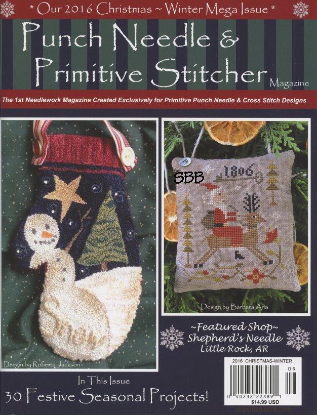 Punch Needle & Primitive Stitcher Magazine Christmas/Winter 2016