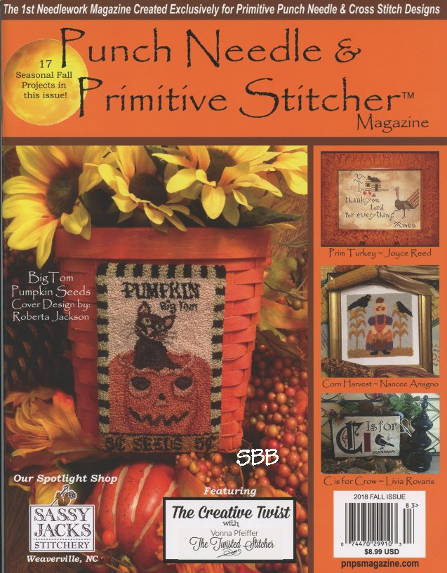Punch Needle & Primitive Stitcher Magazine Fall 2018