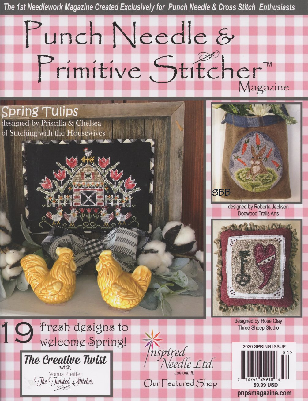 Punch Needle & Primitive Stitcher Magazine Spring 2020
