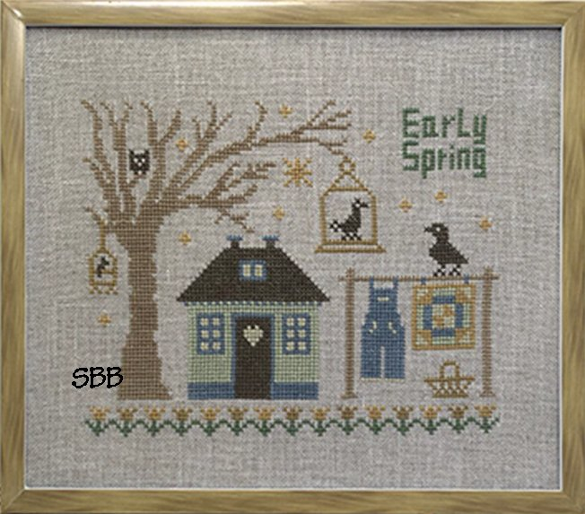 Pheasant Street Samplers Closeout English Cottage Series ~ #3 Springfield Cottage
