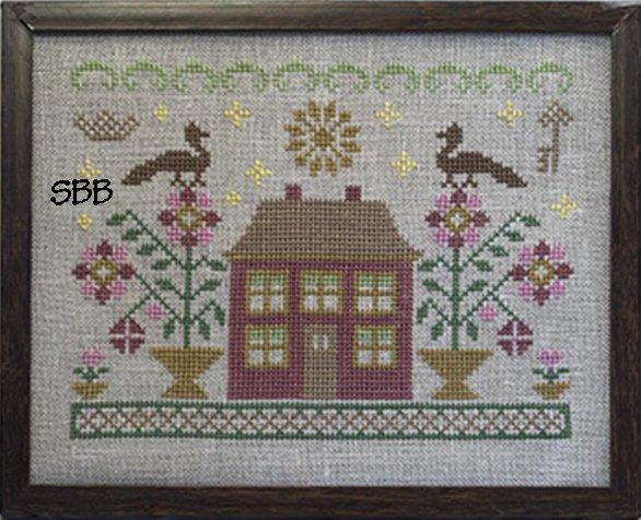 Pheasant Street Samplers English Cottage Series ~ #4 Bloomsbury Cottage