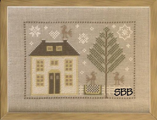 Pheasant Street Samplers Closeout English Cottage Series ~ #1 Winter Garden Cottage