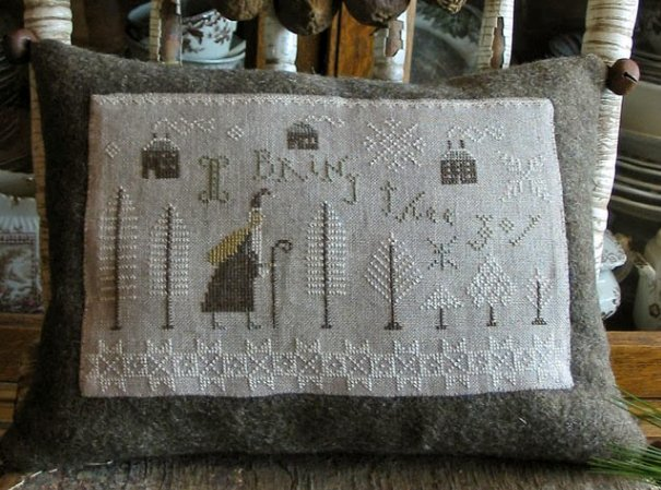 Pineberry Lane I Bring Thee Joy Sampler Pillow