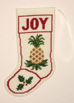 The Posy Collection Kits  PC1297 Pineapple Stocking Ornament ~ 18 count Aida