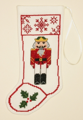 The Posy Collection Kits  PC1299 Nutcracker Stocking Ornament ~ 18 count Aida