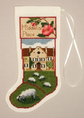 The Posy Collection Kits  PC1395 Middleton Stocking Ornament ~ 18 count Aida