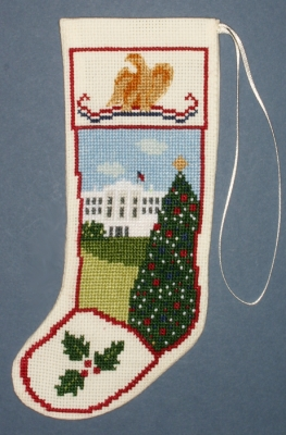 The Posy Collection Kits  PC1529 White House Stocking Ornament ~ 18 count Aida