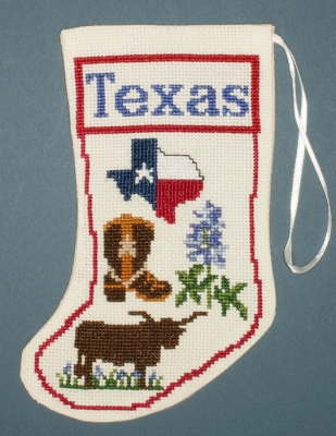 The Posy Collection Kits  PC1832 Texas Stocking Ornament ~ 18 count Aida
