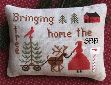 Primitive Needleworks Bringing Home The Tree