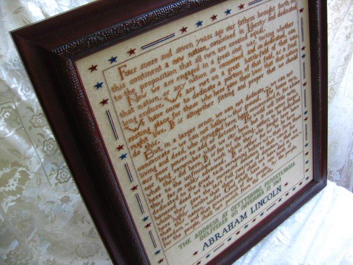 Primrose Needleworks272 Words Gettysburg Address