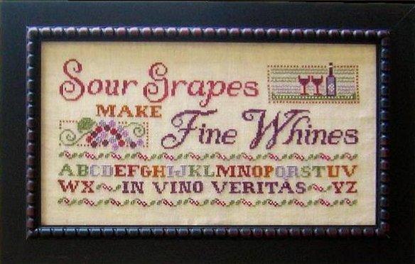 Primrose Needleworks Sour Grapes Make Fine Wines
