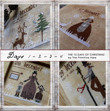 The Primitive Hare12 Days Of Christmas 1-4