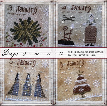 The Primitive Hare12 Days Of Christmas 9-12