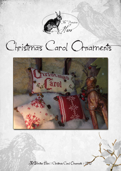 The Primitive Hare Christmas Carol Ornaments