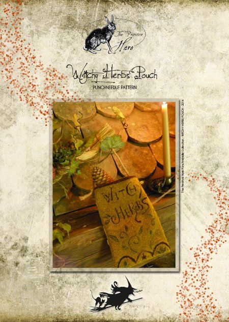 The Primitive Hare Witchy Herbs Punchneedle