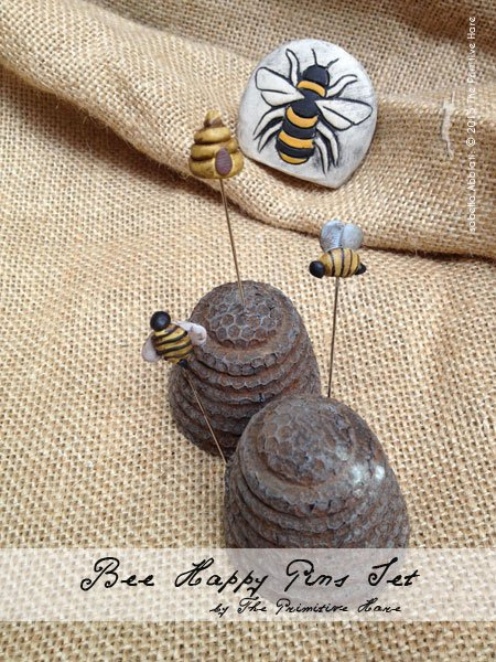 The Primitive Hare Pins Bee Happy
