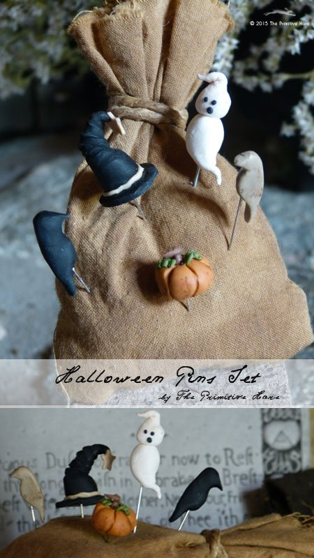 The Primitive Hare Pins Halloween