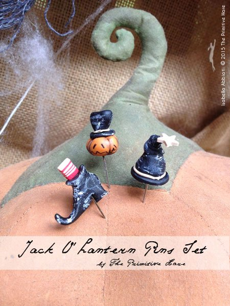 The Primitive Hare Pins Jack-O-Lantern