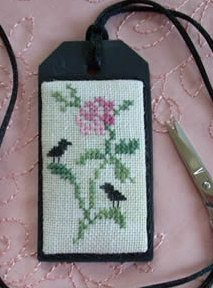 The Primitive Jewel CloseoutCrows On a Rose Necklace Kit