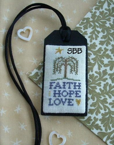 The Primitive Jewel Closeout Faith Hope Love Necklace Kit