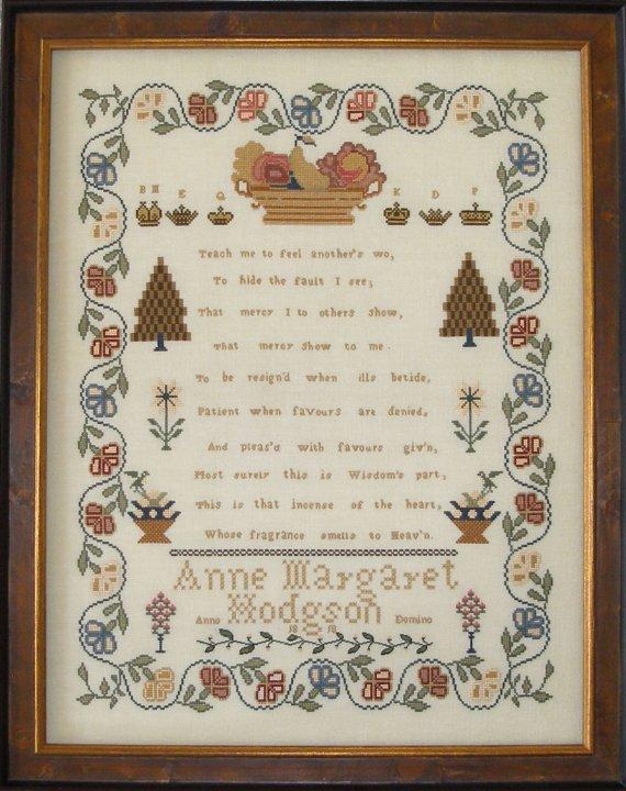 Queenstown Sampler Designs Anne Margaret Hodgson 1818