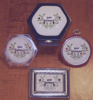 Queenstown Sampler Designs Baltimore Wreath