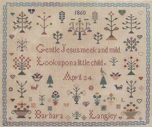 Queenstown Sampler Designs Barbara Langley 1860