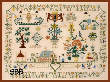 Queenstown Sampler Designs Dutch 1787