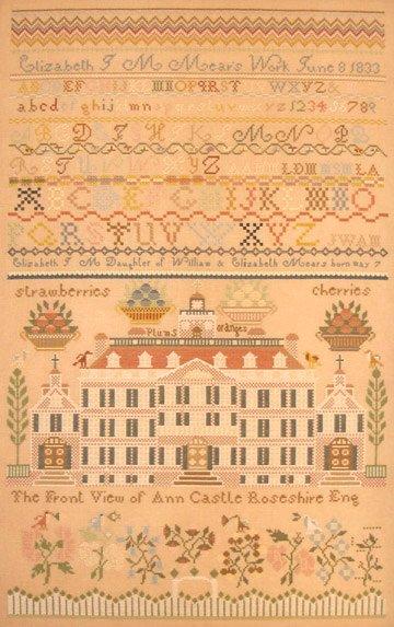 Queenstown Sampler Designs Elizabeth J. M. Mears 1833