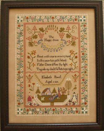 Queenstown Sampler Designs Elizabeth Powel 1819