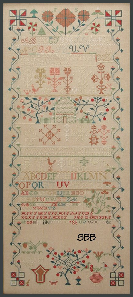 Queenstown Sampler Designs Frances Swartz 1842