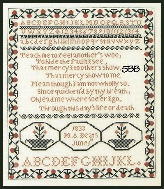 Queenstown Sampler Designs M. A. Beats 1833