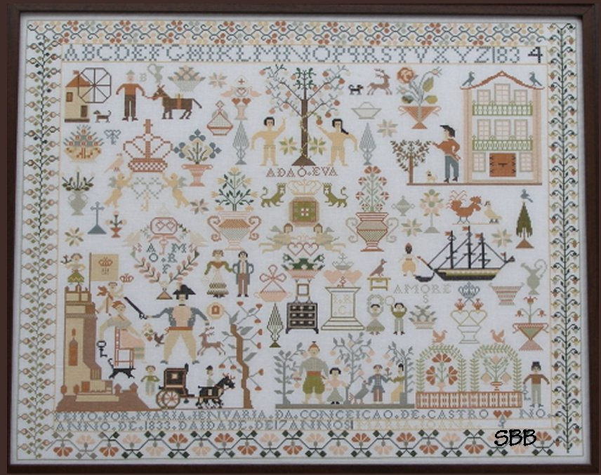Queenstown Sampler Designs Maria Jenuaria 1833-34