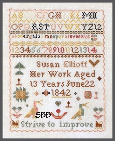 Queenstown Sampler Designs Susan Elliott 1842