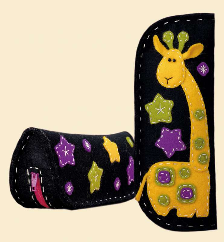 Riolis Kits RL1339AC Felt Giraffe Eyeglass/Pencil Case