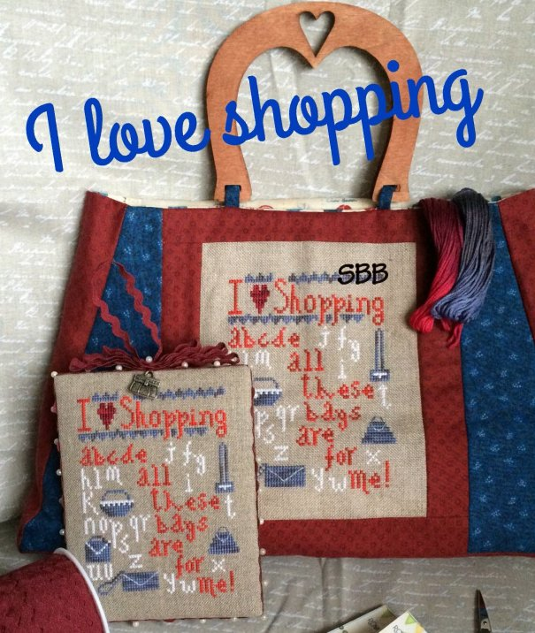 Romy's Creations Designs I Love Shopping With Handpainted Wooden Handles