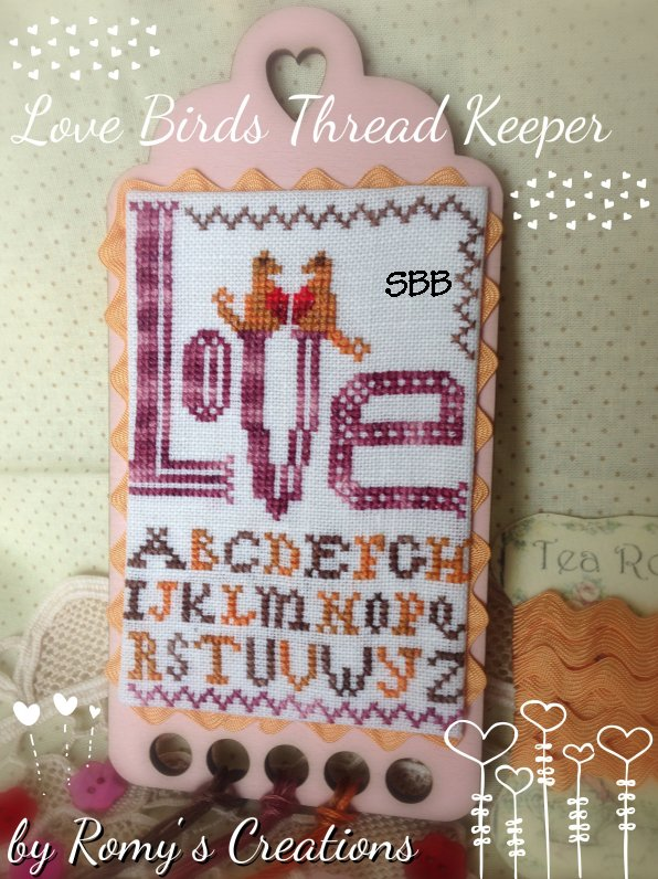 Romys Creations Designs Love Bird Thread Keeper