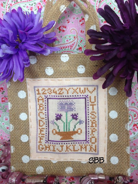 Romys Creations Designs Purple Flowers Little Bag