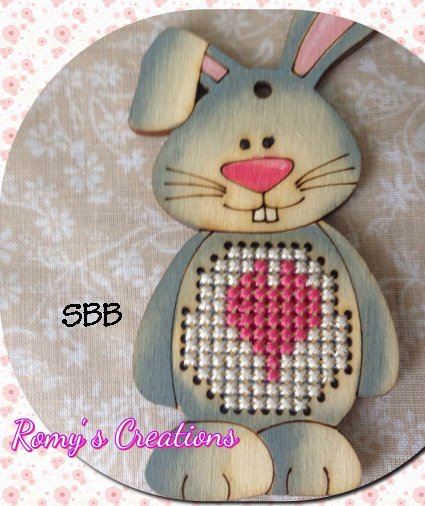 Romys Creations Designs Stitch In Wood ~ Bunny