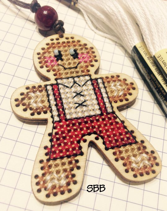 Romys Creations Designs Stitch In Wood ~ Gingerman