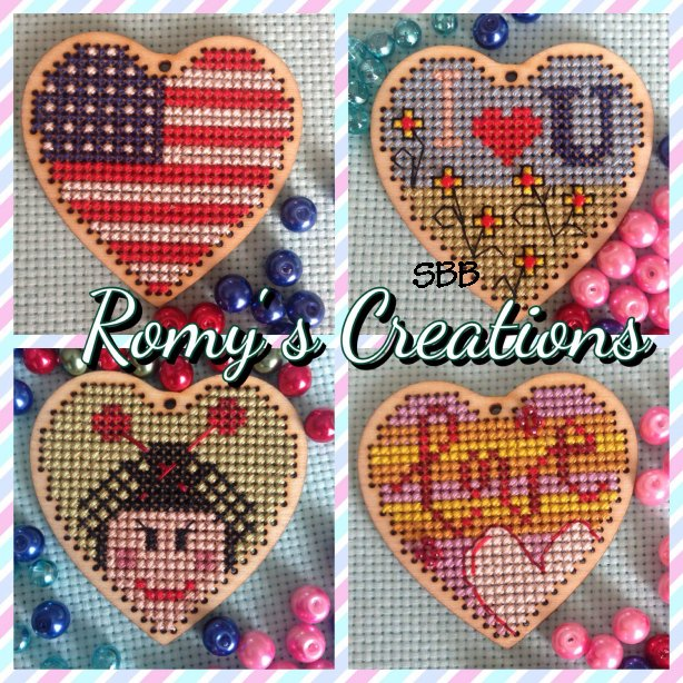 Romys Creations Designs Stitch In Wood ~ Heart