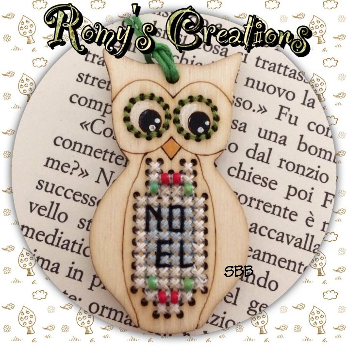 Romys Creations Designs Stitch In Wood ~ Owl
